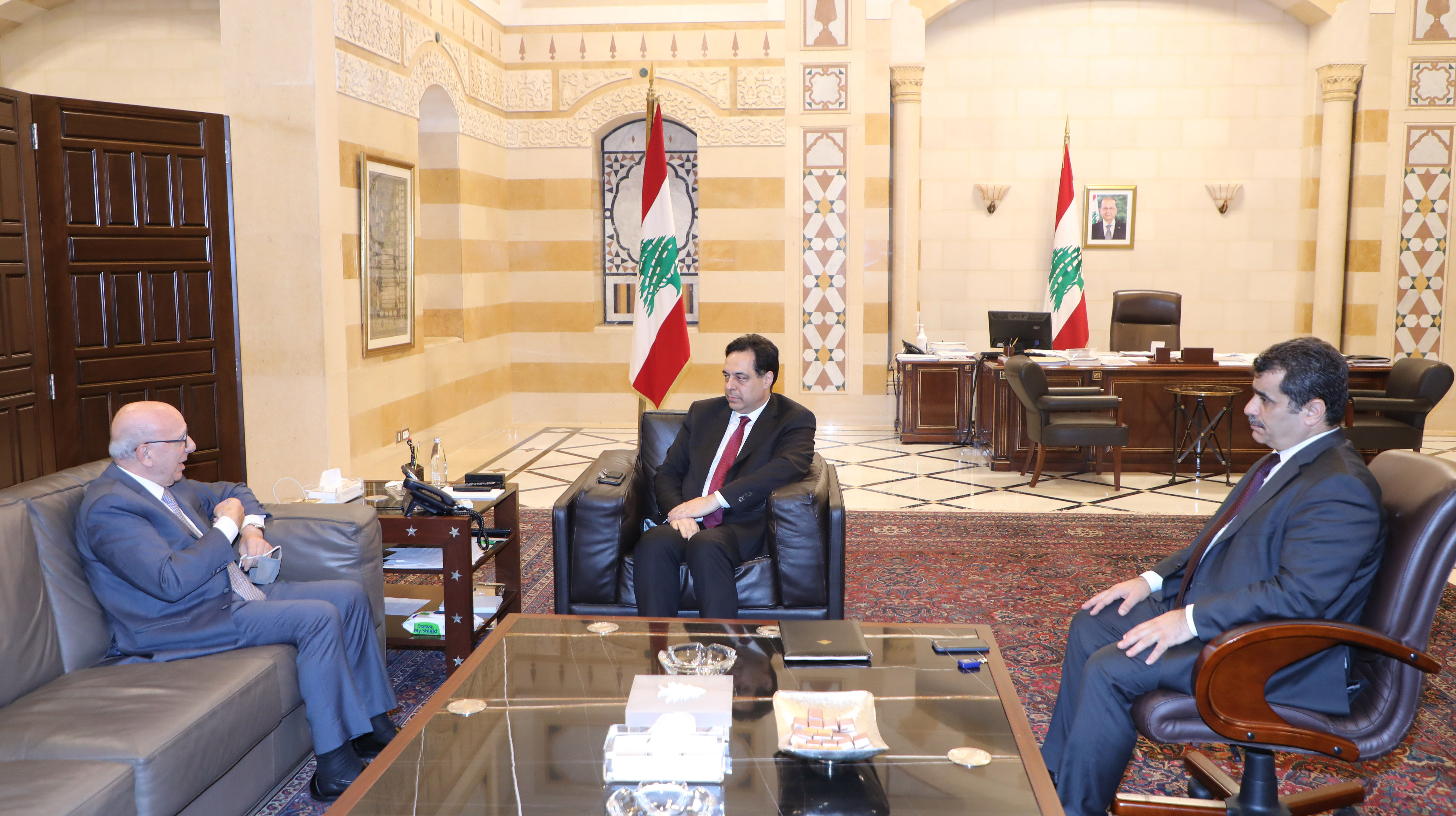 Pr Minister Hassan Diab meets Mr Chakib Kertbaoui 1