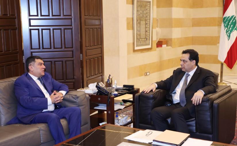 Pr Minister Hassan Diab meets Mr Mouhamad El Hout