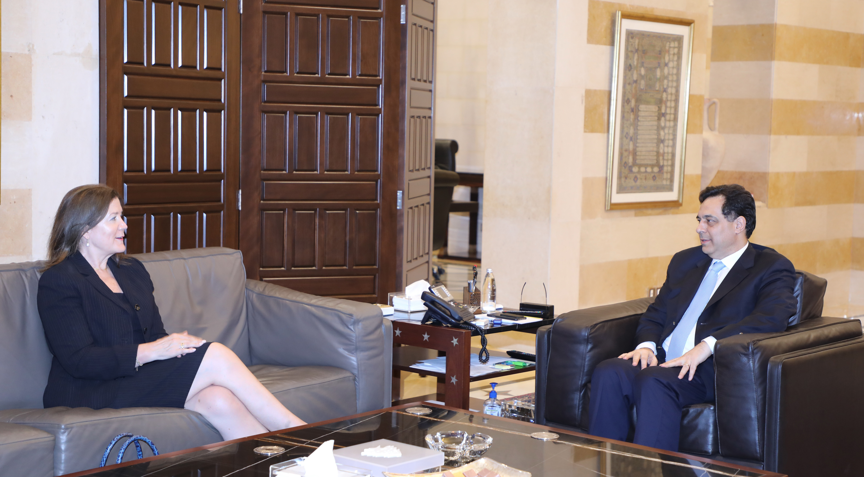 Pr Minister Hassan Diab meets US Ambassador