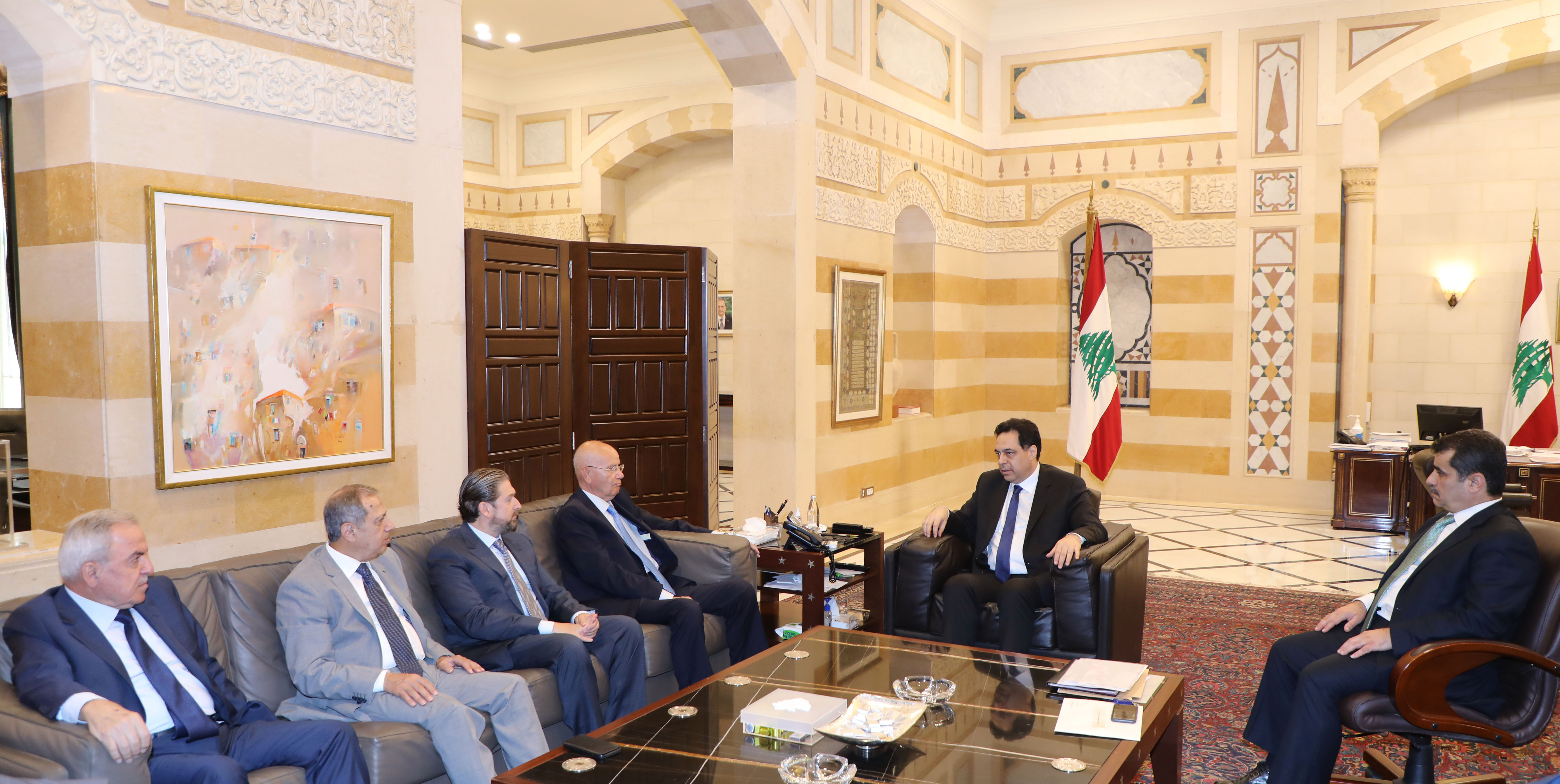 Pr Minister Hassan Diab meets a Delegation from Ghathering MPs Bloc