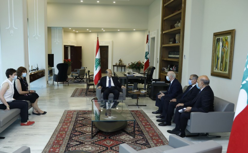 President Michel Aoun Meets Dr Bernard Gerbaka with a Delegation