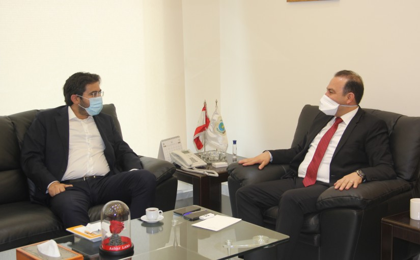 Minister Abass Mourtada meets MP Selim el Khoury