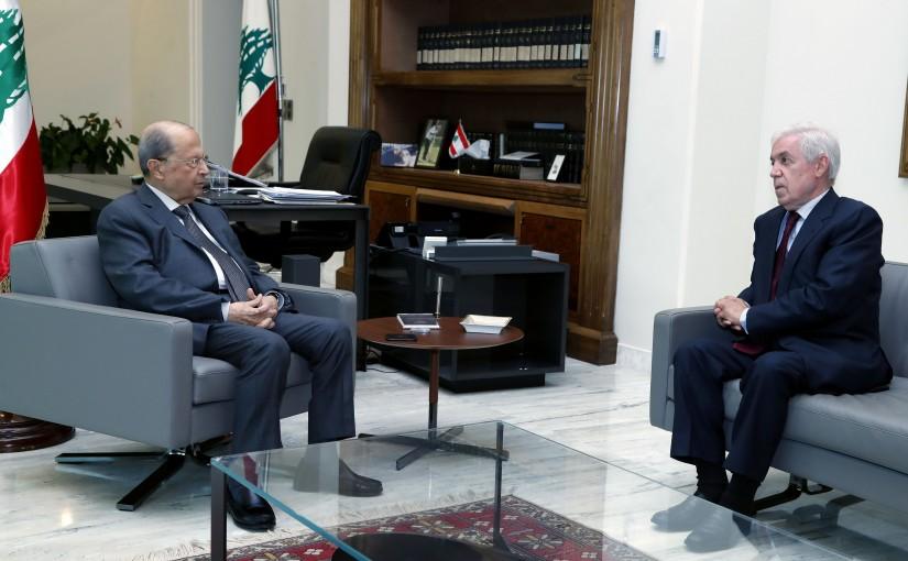 President Michel Aoun meets Ambassador Naji Abi Assi.
