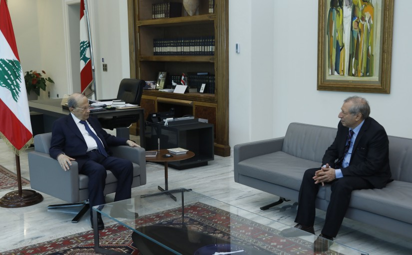 President Michel Aoun Meets Head of the National Audio Visuel Council of Lebanon  Abdel Hadi Mahfouz