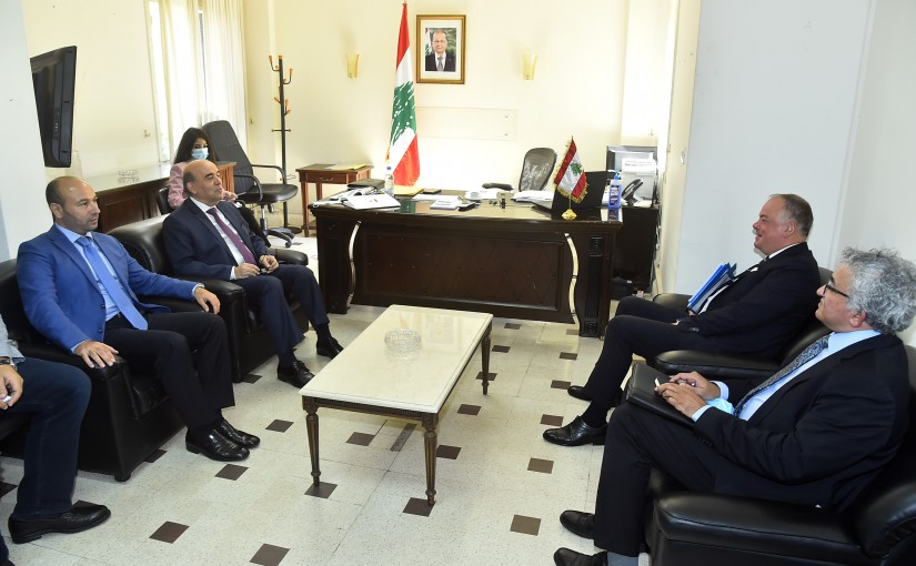 Minister Charbel Wehbeh meets General Stefano del Col