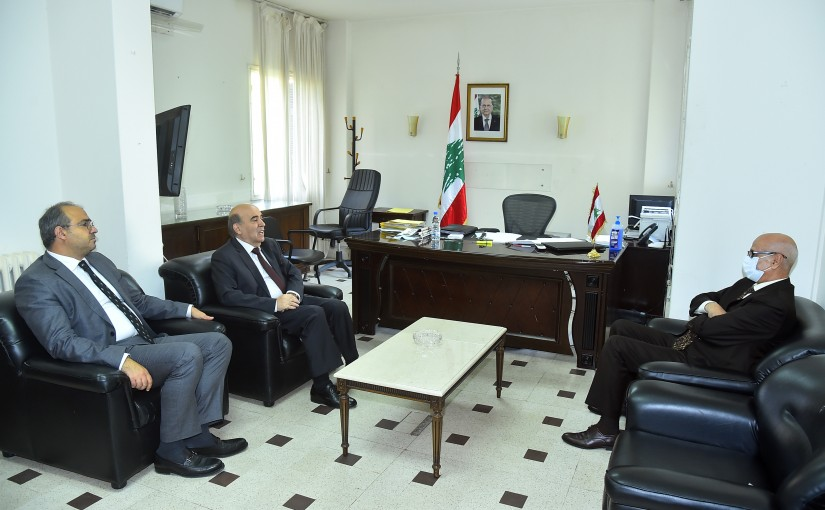 Minister Charbel Wehbeh meets Morocco Ambassador