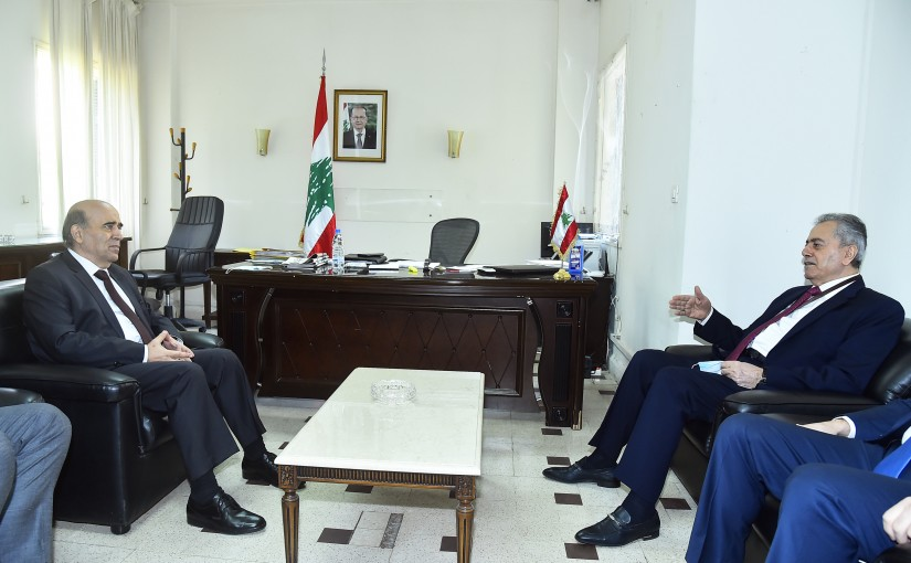 Minister Charbel Wehbeh meets Syrian Ambassador