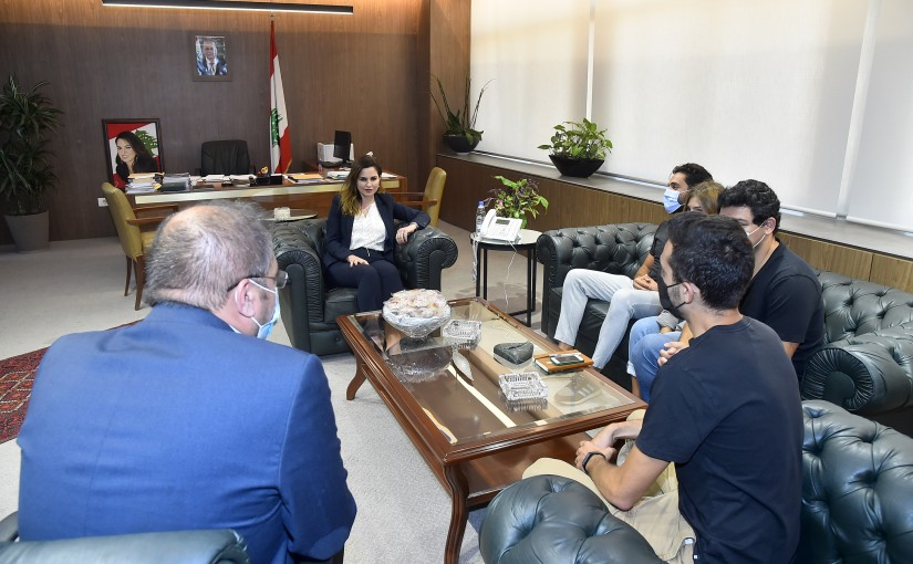Minister Manal Abdel Samad meets a Delegation from Lebanese Students