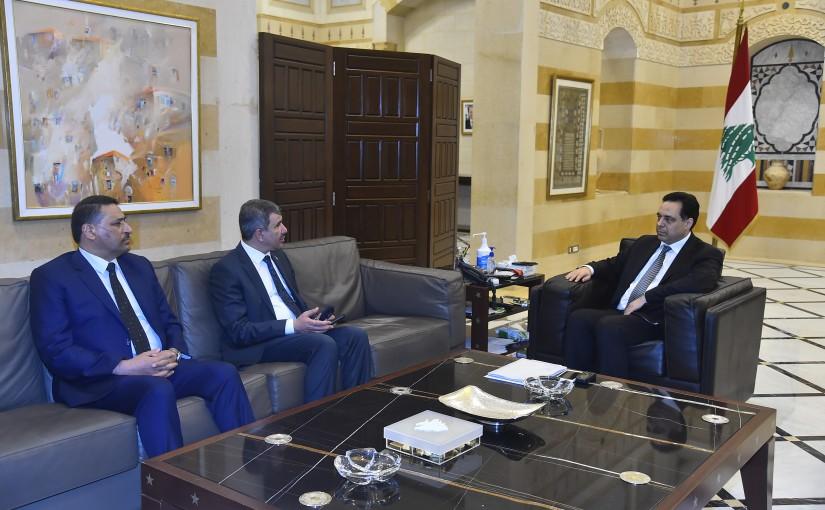 Pr Minister Hassan Diab meets a Iraqi Delegation