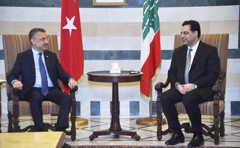 Pr Minister Hassan Diab meets a  Turkish Delegation