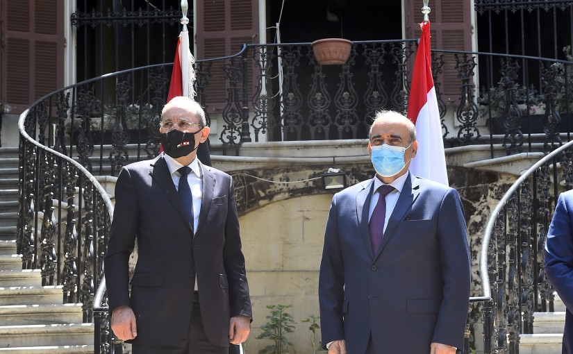 Minister Charbel Wehbe meets Jordanian Minister of Foreign Affairs