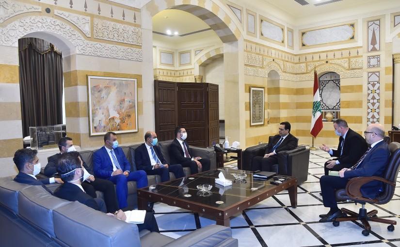 Pr Minister Hassan Diab meets a Turkish Delegation