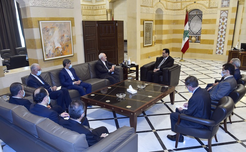 Pr Minister Hassan Diab meets Iranian Minister of Foreign Affairs Mohamad Jawad Zarif