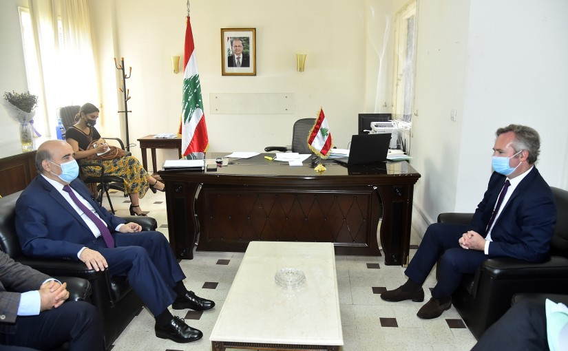Minister Charbel Wehbeh meets a French Delegation