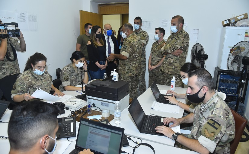 Minister Manal Abdel Samad visits the emergency cell in the Beirut municipality