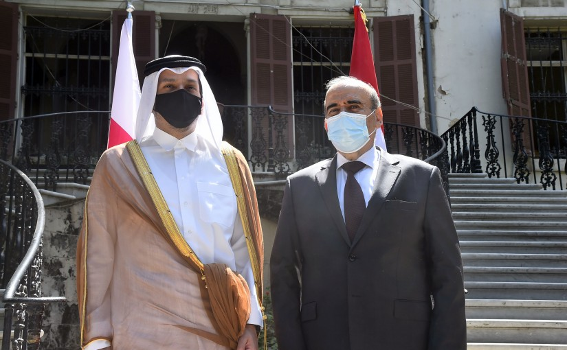 Minister Charbel Wehbeh meets Qatar Minister of Foreign Affairs