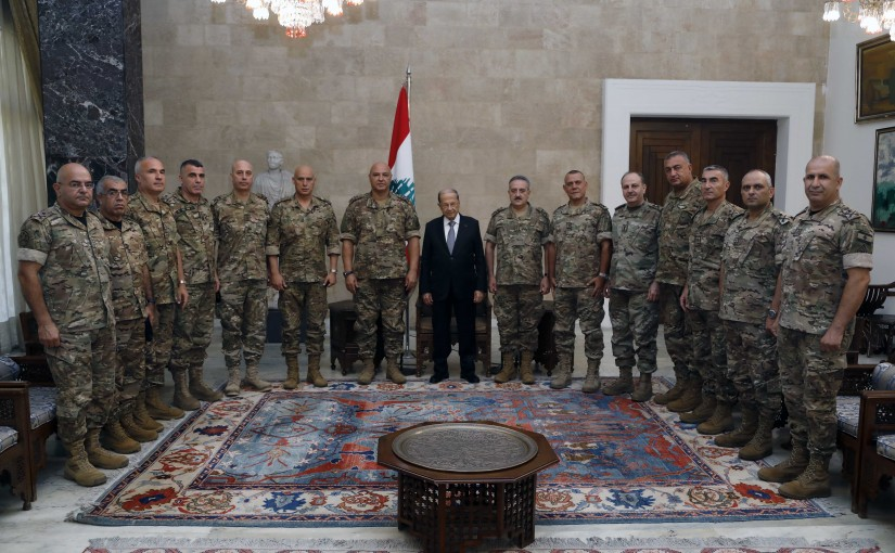 President Michel Aoun Meets a Delegation of Army Commanders