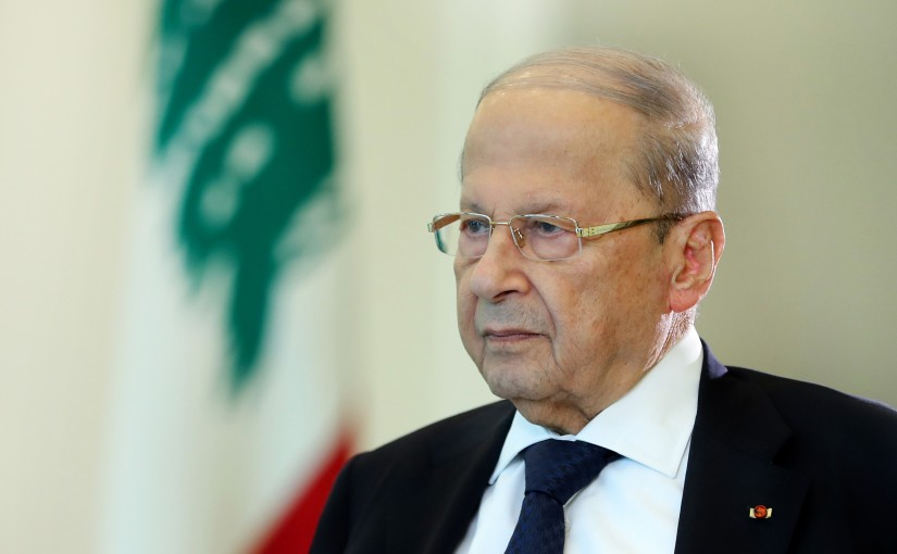 President Michel Aoun During an Interview with BFMTV Station