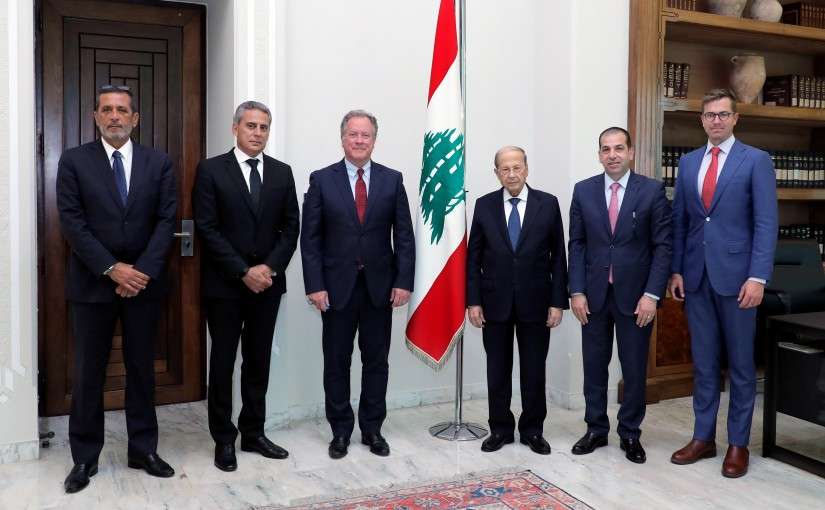 President Michel Aoun Meets Executive Director of the United Nations World Food Program David Beasley