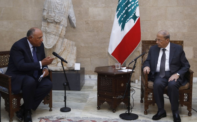 President Michel Aoun Meets Egyptian Minister of Foreign Affairs Sameh Shoukry