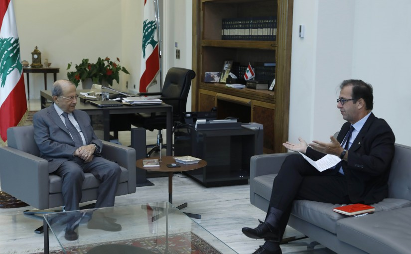 President Michel Aoun Meets French Ambassador Bruno Foucher