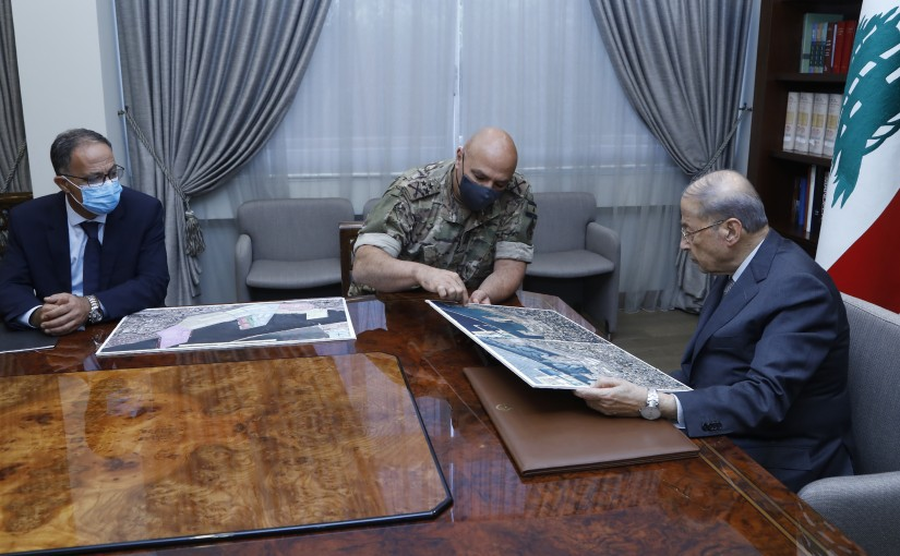 President Michel Aoun Meets Head of Army Commander Genaral Joseph Aoun & Director of the Directorate of Intelligence General Brigadier Antoine Mansour
