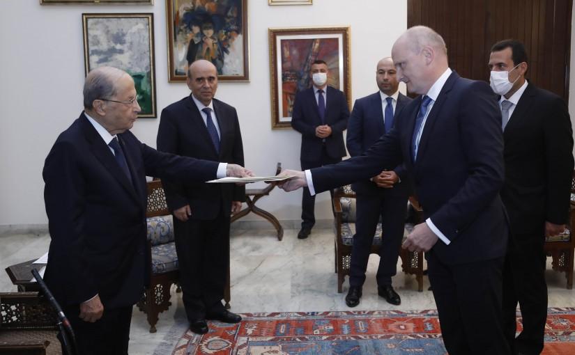 President Michel Aoun Meets German Ambassador
