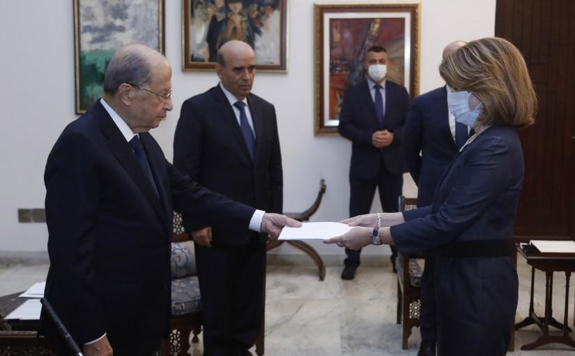 President Michel Aoun Meets Greek Ambassador