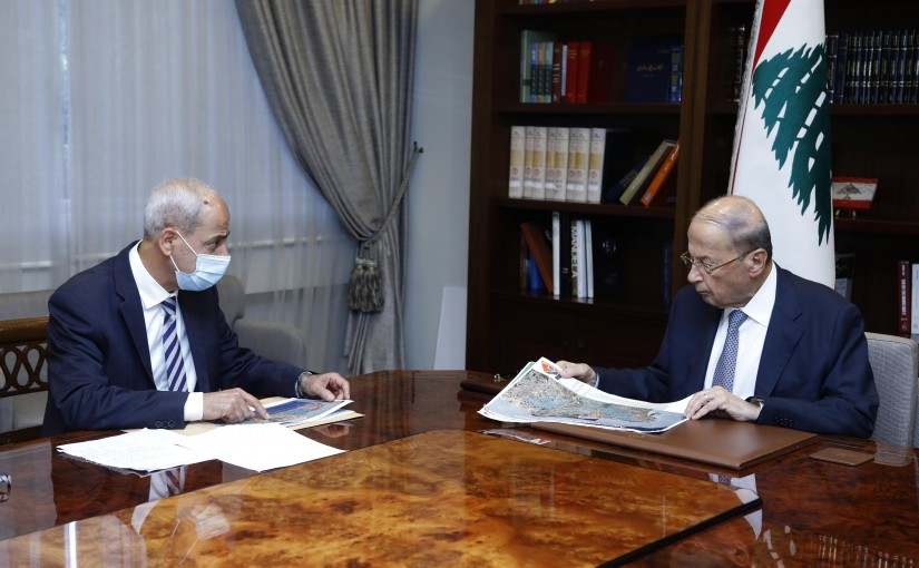President Michel Aoun Meets Head of the Highest Relief Committee Major General Mohamad Kheir