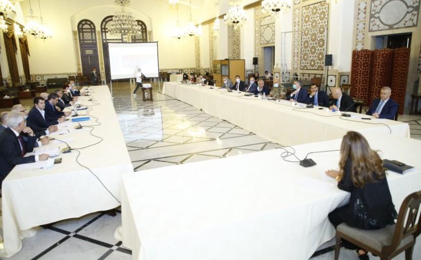 Deputy Pr Minister Zeina Akkar meets a Delegation from Lebanese Employees