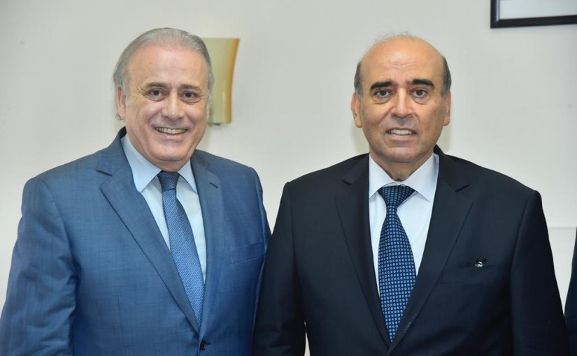 Minister Charbel Wehbeh meets Dean Joseph Habis