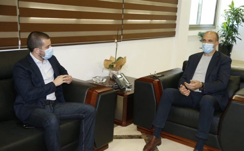 Minister Hassan Hamad meets MP Sami Fatfat