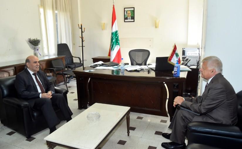Minister Charbel Wehbeh meets Russian Ambassador