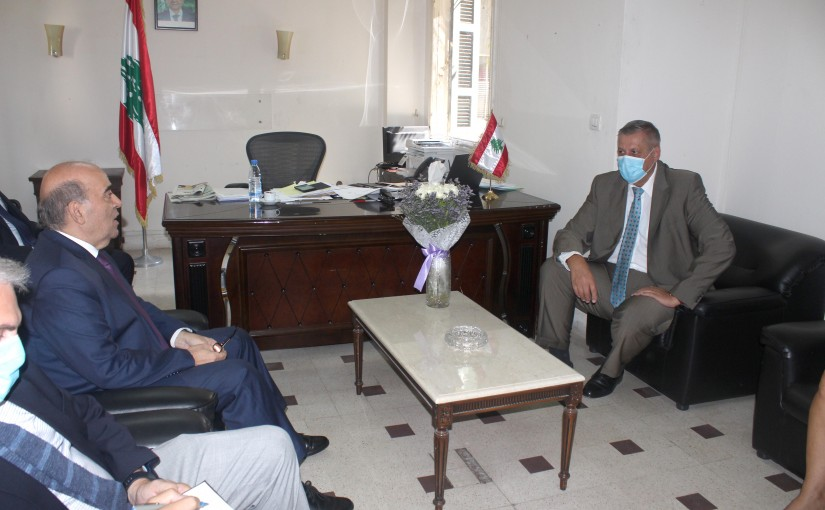 Minister Charbel Wehbeh meets Mr Jan Kubis