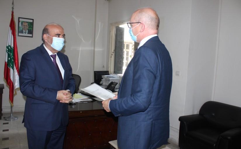 Minister Charbel Wehbeh meets German Ambassador