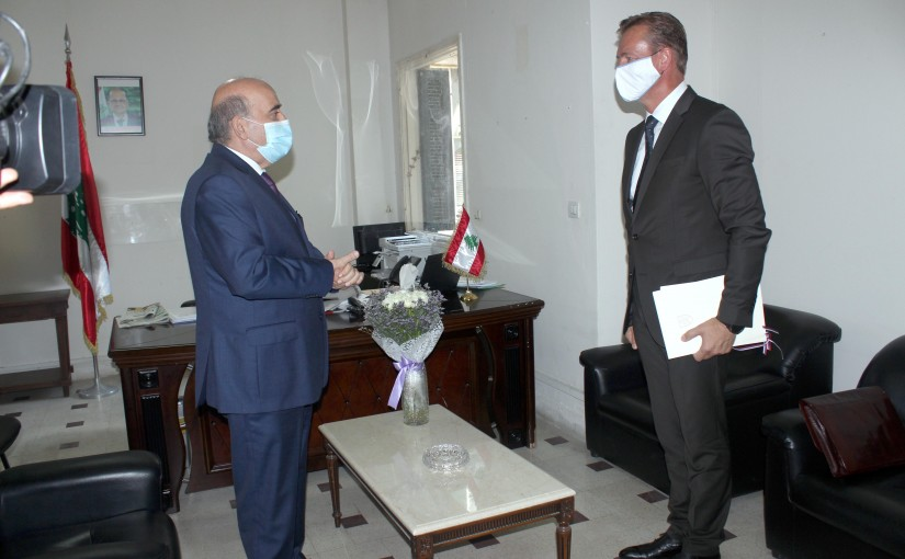 Minister Charbel Wehbeh meets Slovakian Ambassador