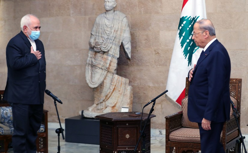 President Michel Aoun Meets Iranian Minister of Foreign Affairs Mohamad Jawad Zarif