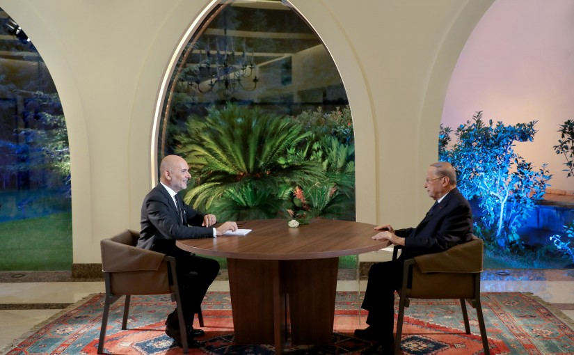 Interview of the Pr.Michel Aoun on the occasion of Centenary of the Great Lebanan with Mr. Rikardo Karam