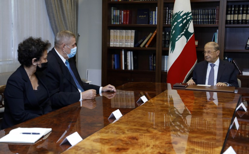 President Michel Aoun Meets United Nations Special Coordinator for Lebanon Jan Cubis