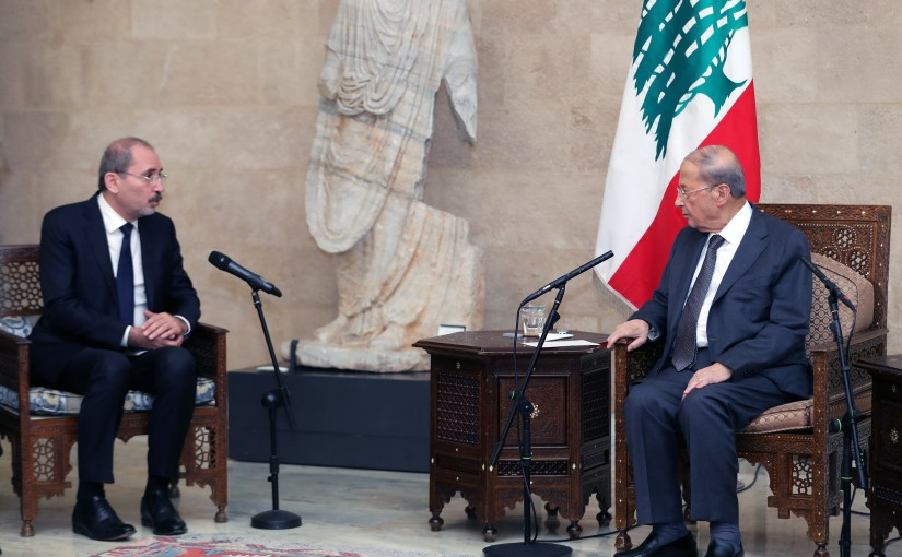 President Michel Aoun Meets Jordan Minister of Foreign Affairs Ayman Safadi