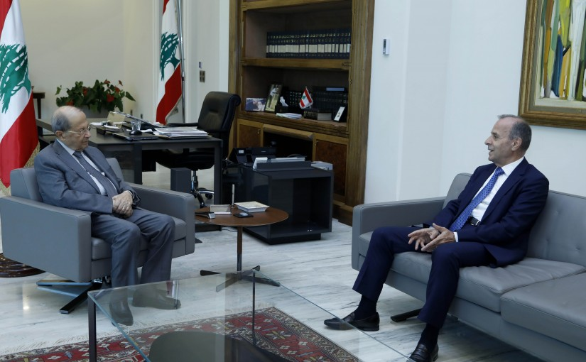 President Michel Aoun Meets Head of The Constitutional Council  Judge Tannous Meshleb