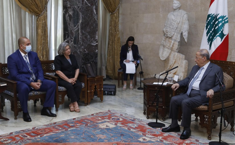 President Michel Aoun Meets Regional Director of The United Nations For Migration Mrs Carmela Godeau