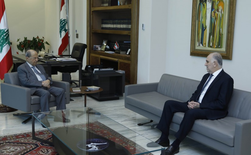 President Michel Aoun Meets Minister of Interior Mohamad Fehmi
