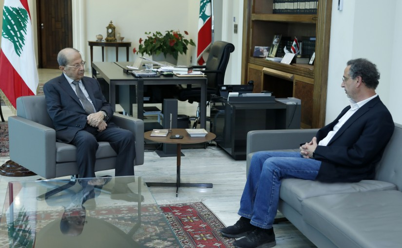 President Michel Aoun Meets Minister of Economy Raoul Nehmeh