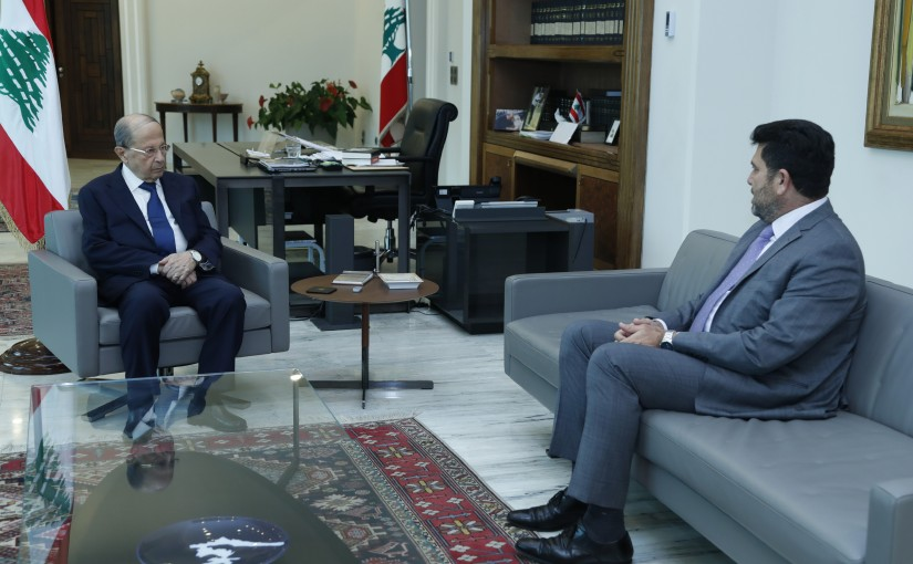 President Michel Aoun Meets Minister Raymond Ghajar