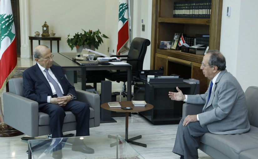 President Michel Aoun Meets MP Jamil Sayed