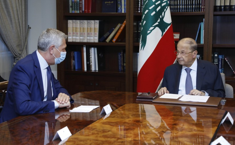 President Michel Aoun Meets United Nations High Commissioner for Refugees Mr Filippo Grandi