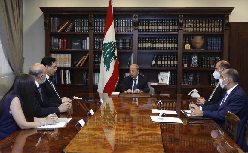 President Michel Aoun Meets Pr Minister Hassan Diab,Minister Hamad Hassan