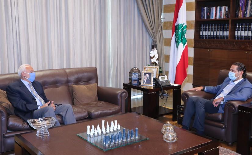 Former Pr Minister Saad Hariri meets Mr Elias Rizik