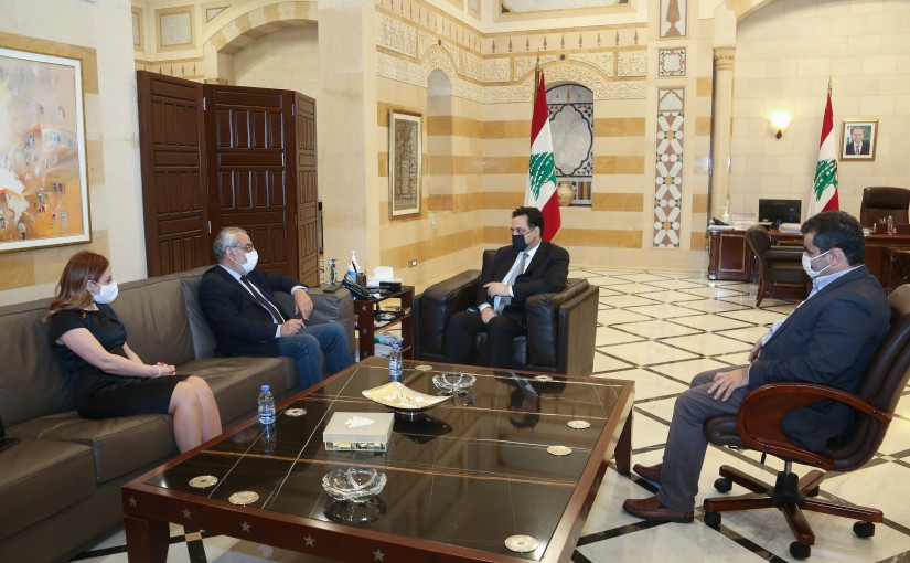 Pr Minister Hassan Diab meets a Delegation from Tachnak Party